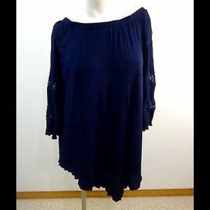 love, fire navy blue dress